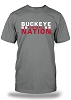 Buckeye Nation Football - Grey