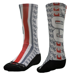 Fully Sublimated Go Bucks Socks