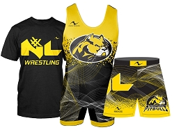 Nexxt Level Wrestling 2016 Package (SInglet, MMA Short and T-Shirt with Transfer)