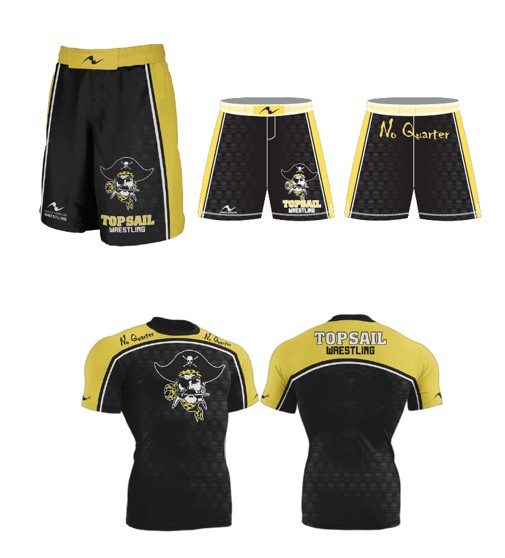 Top Sail Wrestling 2017/2018 Package (Compression Shirt and Legacy Stretch Short)