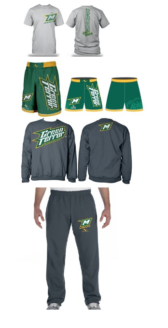 McDaniel College Wrestling 2017/2018 Package (Legacy Stretch Short, T-Shirt, Crewneck Sweatshirt, and Sweatpants)