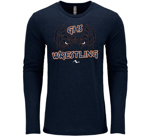 Galion Wrestling 2017/2018 Tri Blend Long Sleeve Shirt