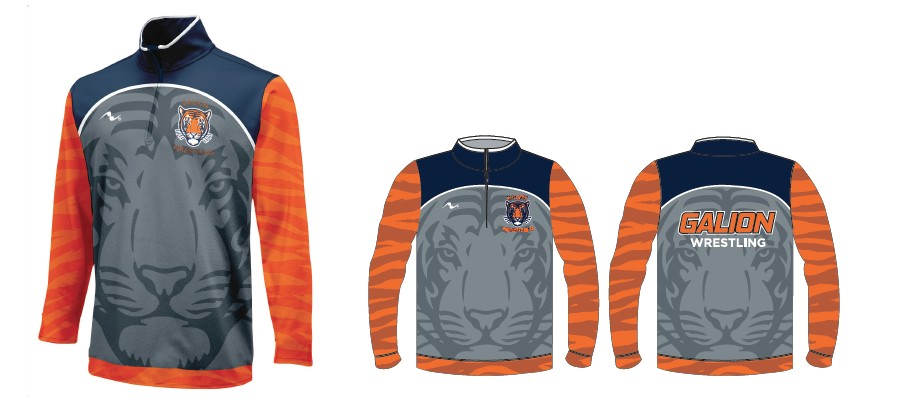 Galion Wrestling 2017/2018 Sublimated 1/4 Zip