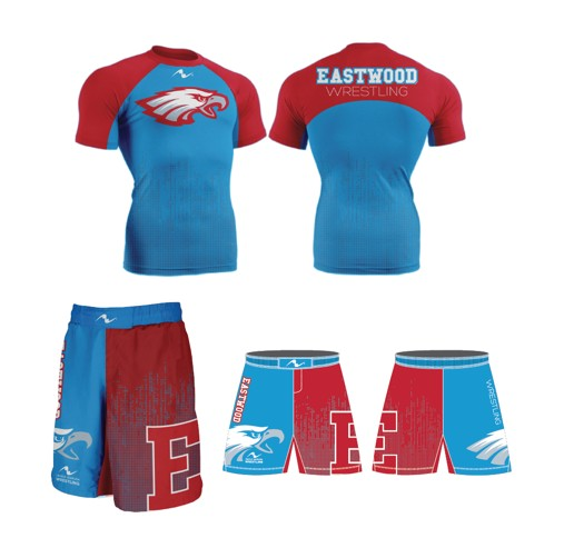 Eastwood Youth Wrestling 2017/2018 Package (Compression Shirt Freestyle Short)