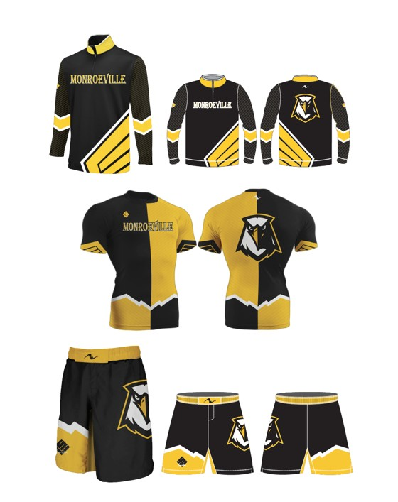 Monroeville Wrestling 2017/2018 (Compression Shirt and MMA Short and 1/4 Zip)