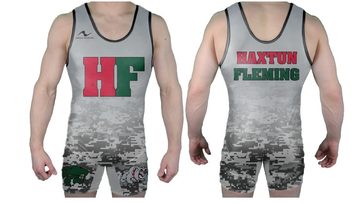 Haxtun-Fleming Wrestling 2017/2018 Sublimated Singlet