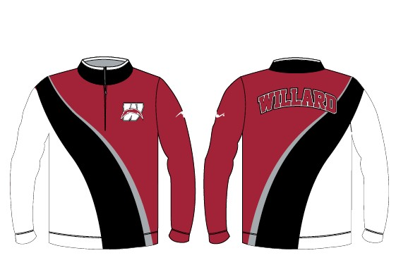 Willard Wrestling 2017/2018 1/4 Zip