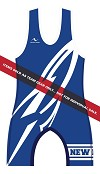New Lisbon Wrestling 2013/2014 Singlet (Blue)