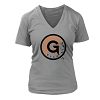 Green Gladiator Baseball 2017 Ladies V-Neck T-Shirt