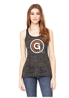Green Gladiator Baseball 2017 Ladies Flowy Racerback Tank