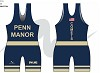 Penn Manor Wrestling 2018/2019 Sublimated Singlet